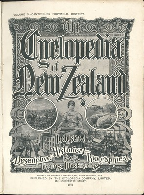 The Cyclopedia of New Zealand Vol. 3 Canterbury Provincial District (Original binding)