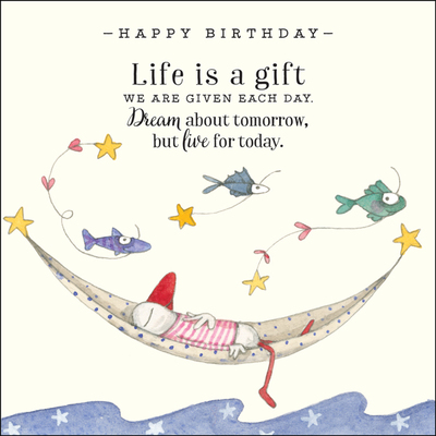 K159 Happy Birthday Life is a Gift card