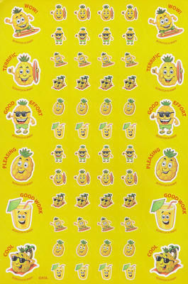 SS1012 Pineapple Stickers Scentsations Pack of 180 - ATA