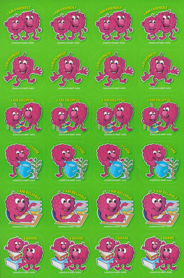 SS1023 Raspberry Stickers Scentsation Pack of 72 - ATA