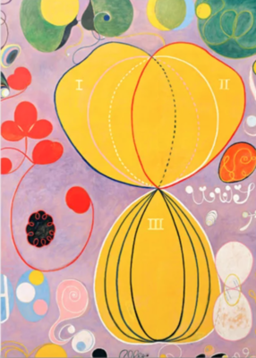 "Hilma af Klint ""The Ten Largest, No. 07, Adulthood, Group IV"" Greeting Card"