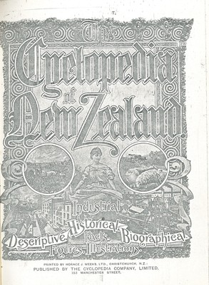 The Cyclopedia of New Zealand Vol. 4 Otago and Southland Provincial Districts (Rebound)