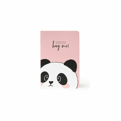 A6 Lined Notebook - Panda