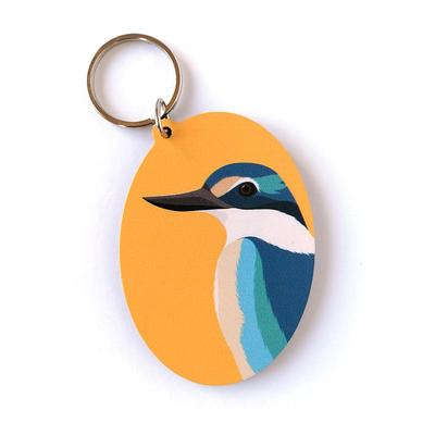 Hansby Design - Kingfisher Gold Keytag