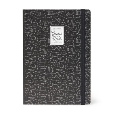 Genius at Work Math Quaderno Large Lined Notebook