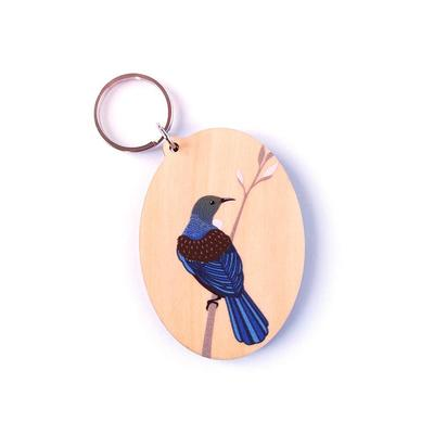 Hansby Design - Tui on Branch Natural Keytag