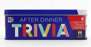 After Dinner Trivia Cards in Tin