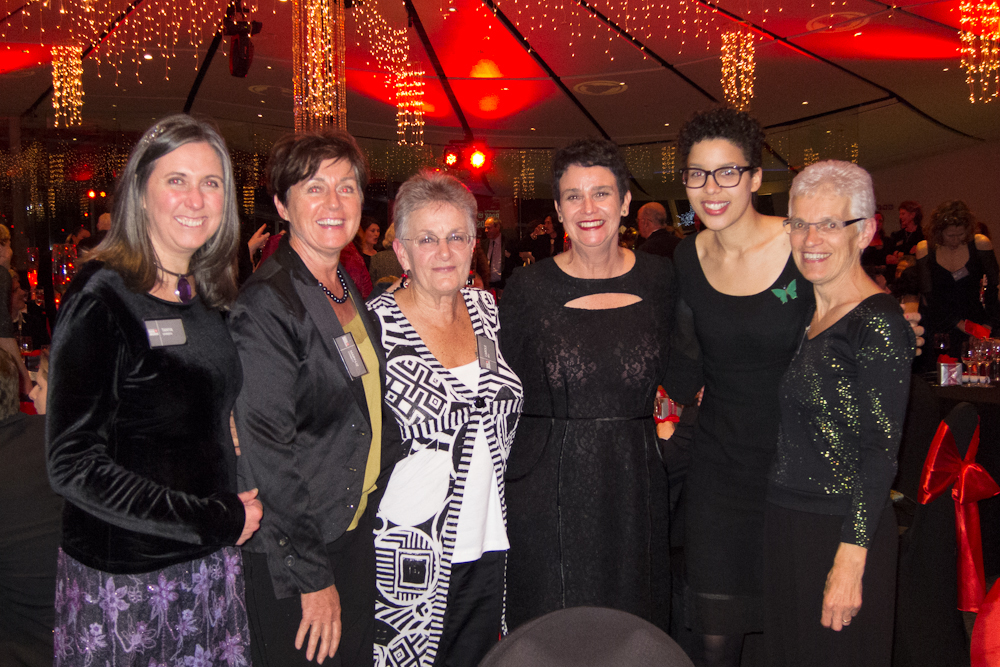 Women's Bookshop staff with award-winning author Sue Orr at the NZ Post Book Awards Dinner