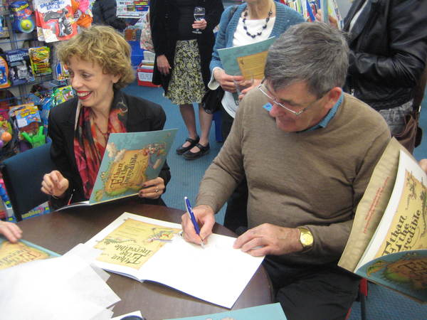 Illustrator Philip Webb signs books