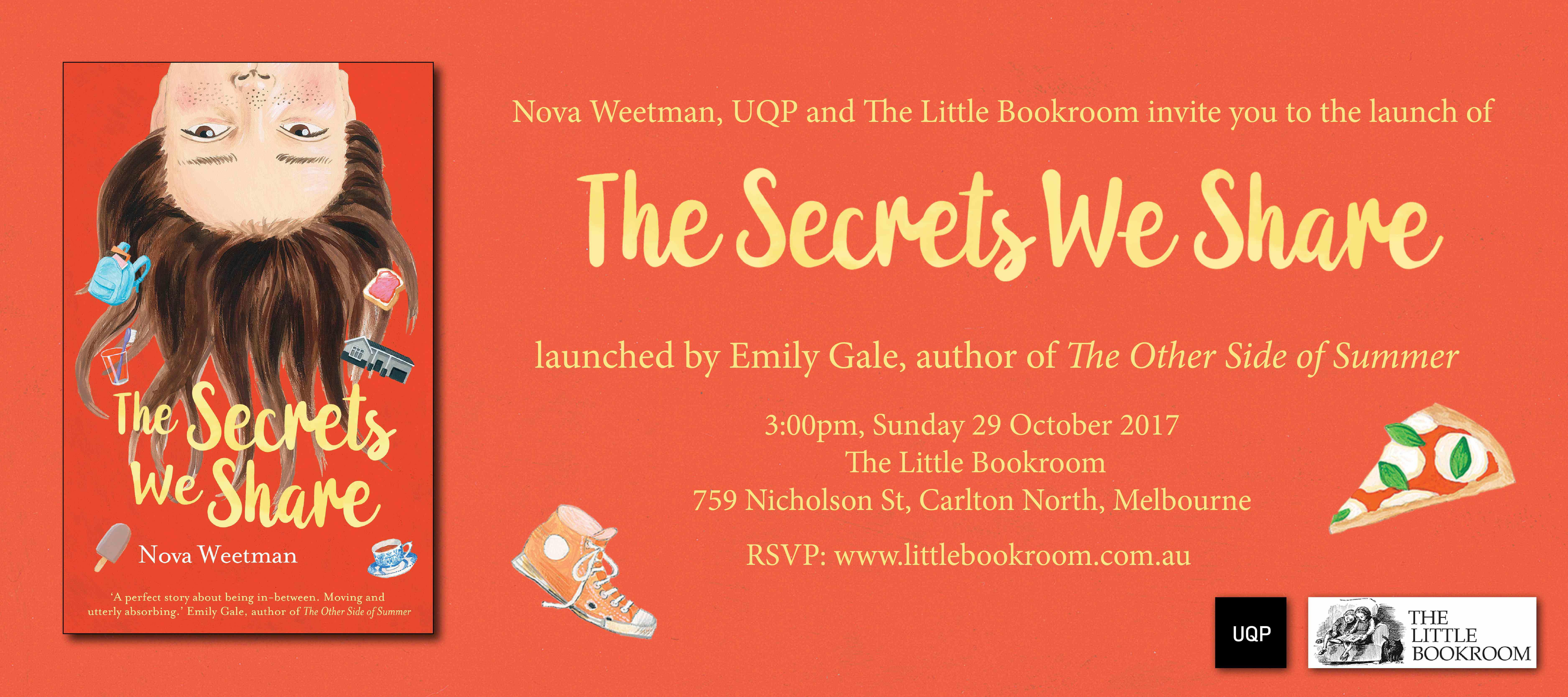 Book Launch: The Secrets We Share by Nova Weetman