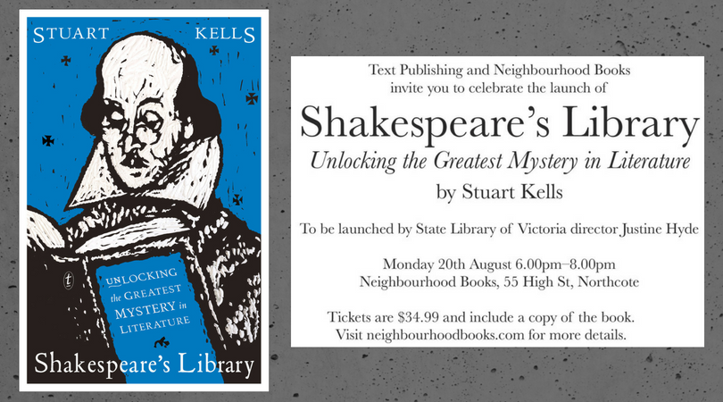 Book Launch: Shakepeare's Library by Stuart Kells