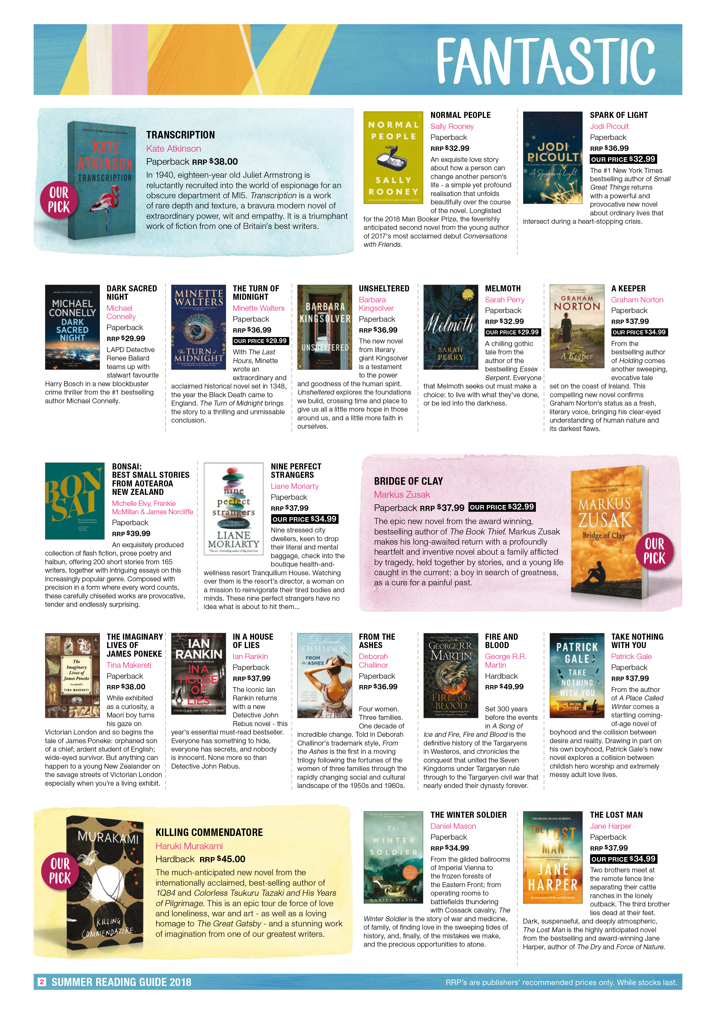 Piccadilly Books Summer Reading Guide 2018 Page 2
