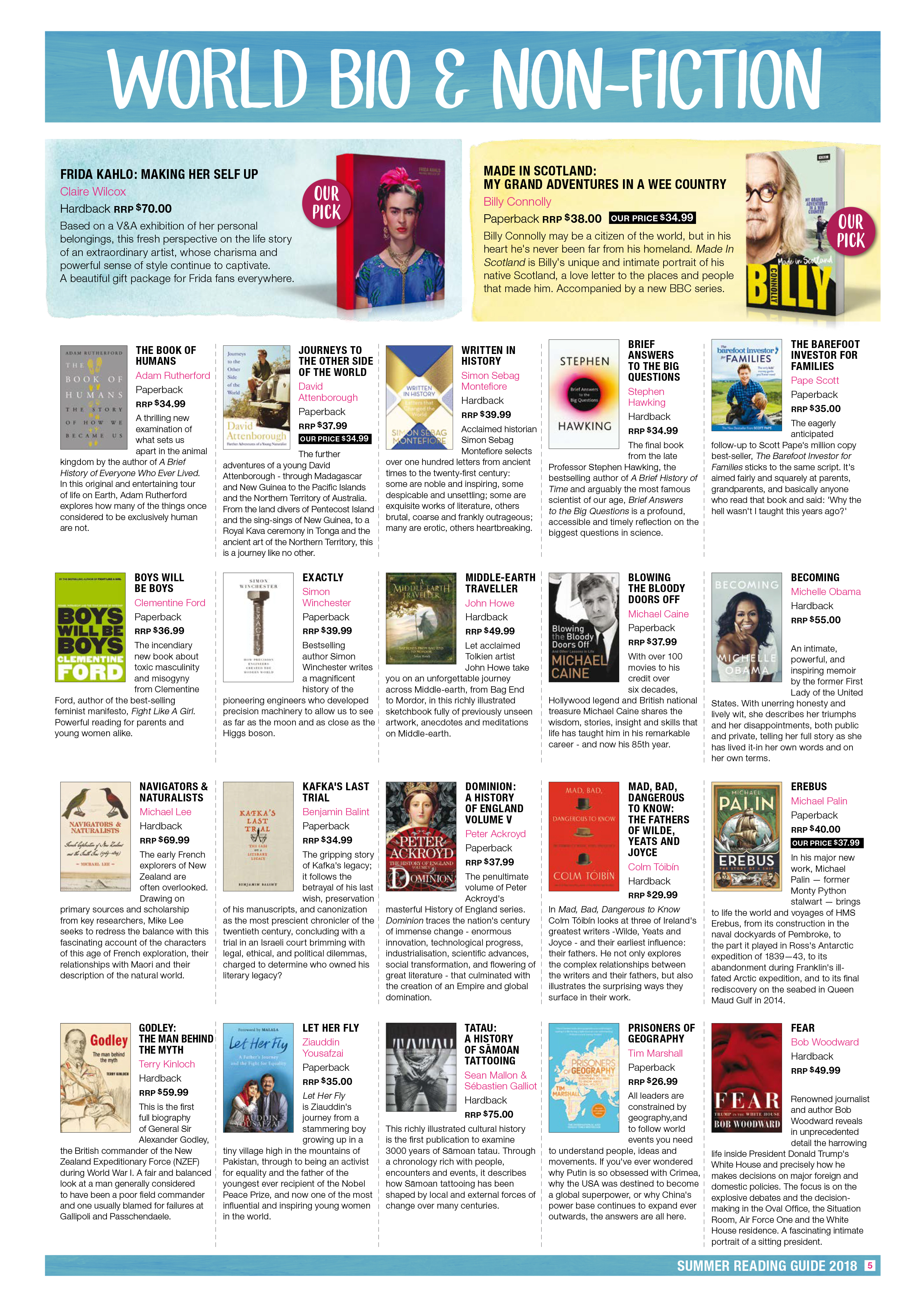 Piccadilly Books Summer Reading Guide 2018 Page 5