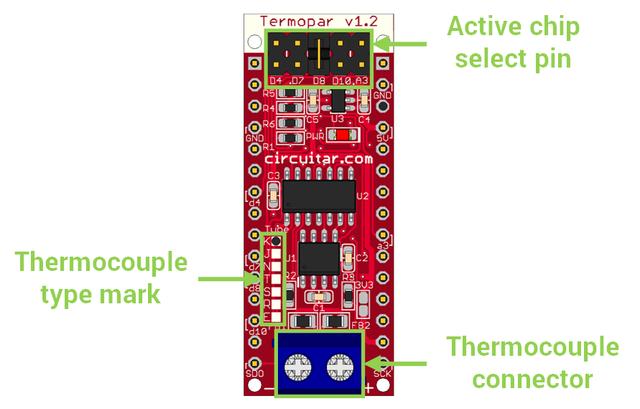 Termopar v1 2 - Temperature sensor using a thermocouple