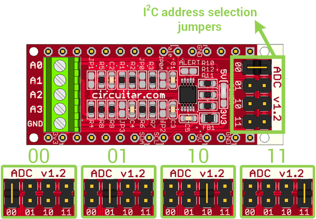 ADC - 4-channel analog-to-digital converter - Arduino-compatible