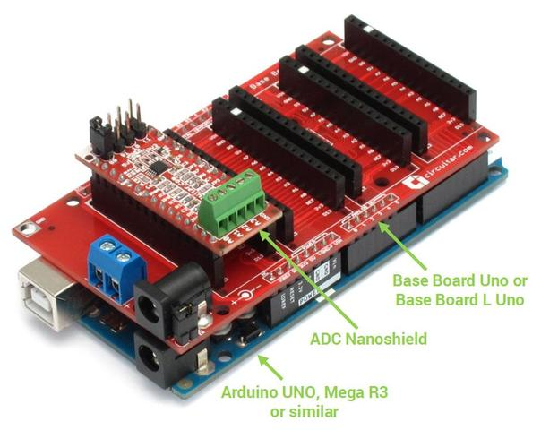 ADC - 4-channel analog-to-digital converter - Arduino
