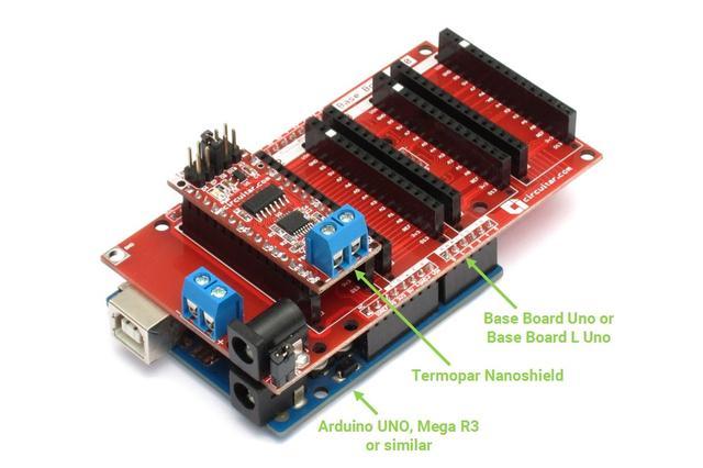 Termopar - Thermocouple temperature measurement - Arduino