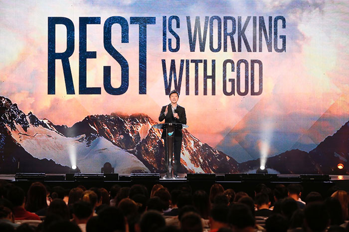 Kong Hee: Rest Is Working With God