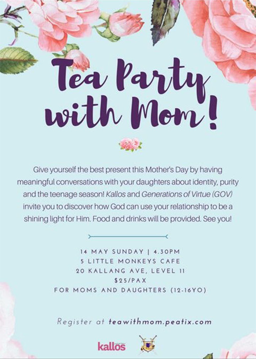 Sign Up Now: Mother-Daughter Tea Party