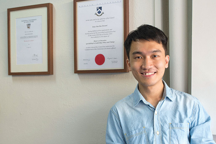 Howard Kuay recently obtained his Master degree in education.