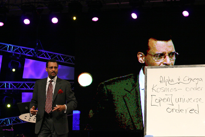 Dr AR Bernard teaching on Kristos Kai Kosmos at CHC in 2006.