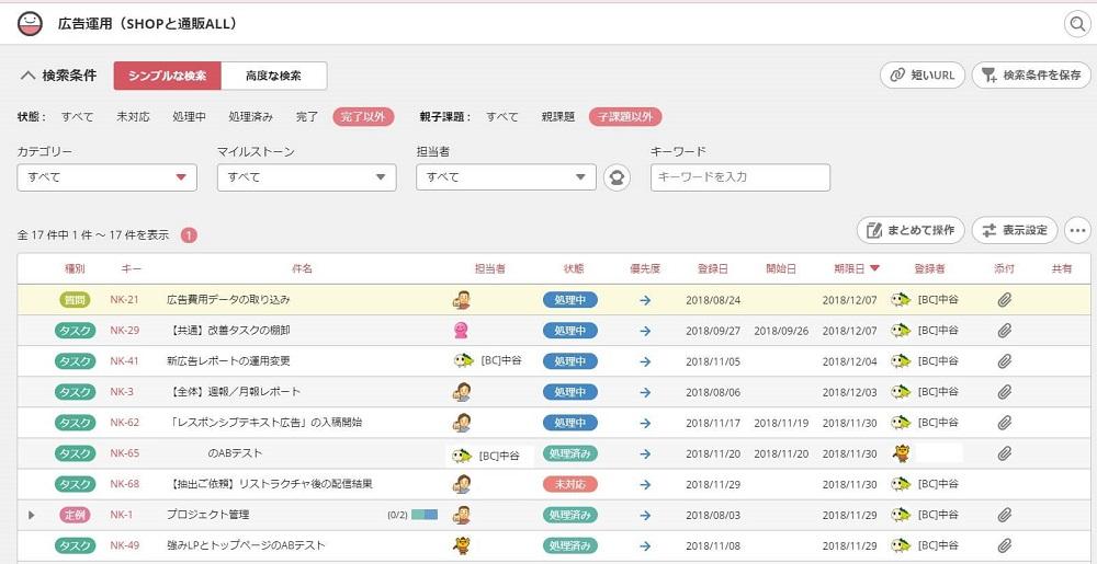 会議の準備の効率化のためにBacklogの課題検索フィルタを活用