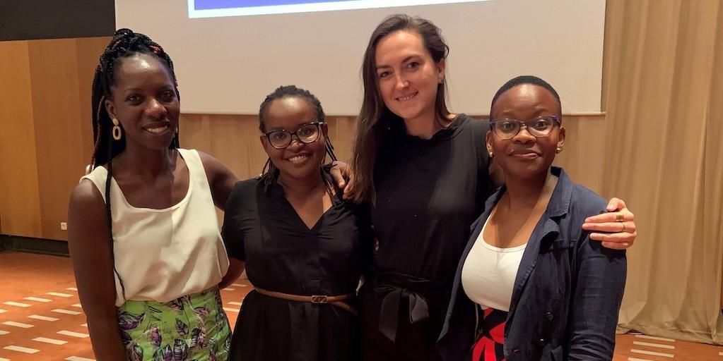 Nya Abagi, Makena Ireri, Hannah Blair and Monica Wambui at the Sustainable Solar E-Waste Management Workshop