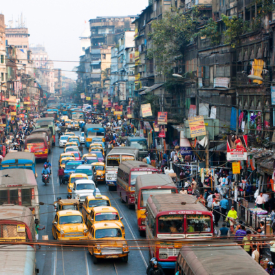 Calcutta India Streetscape