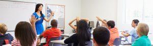 High School Teacher Taking Class