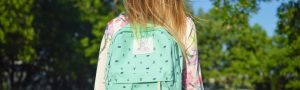schoolgirl with a backpack