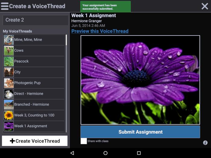 Voicethread screenshot