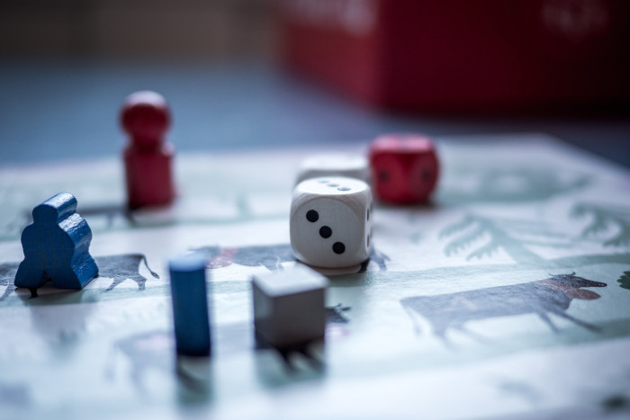 board game with a dice
