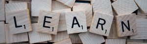 learn pattern on wooden scrabble squares