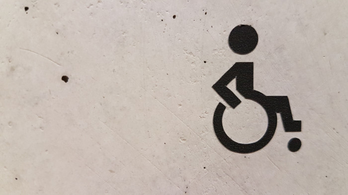 accessible to wheelchair sign