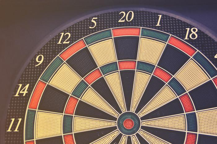 black board game bullseye