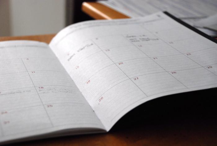 opened calendar