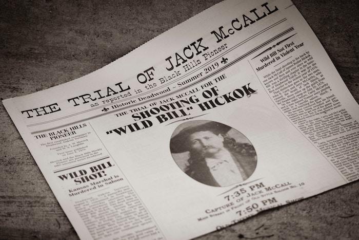 black and white printed vintage newspaper