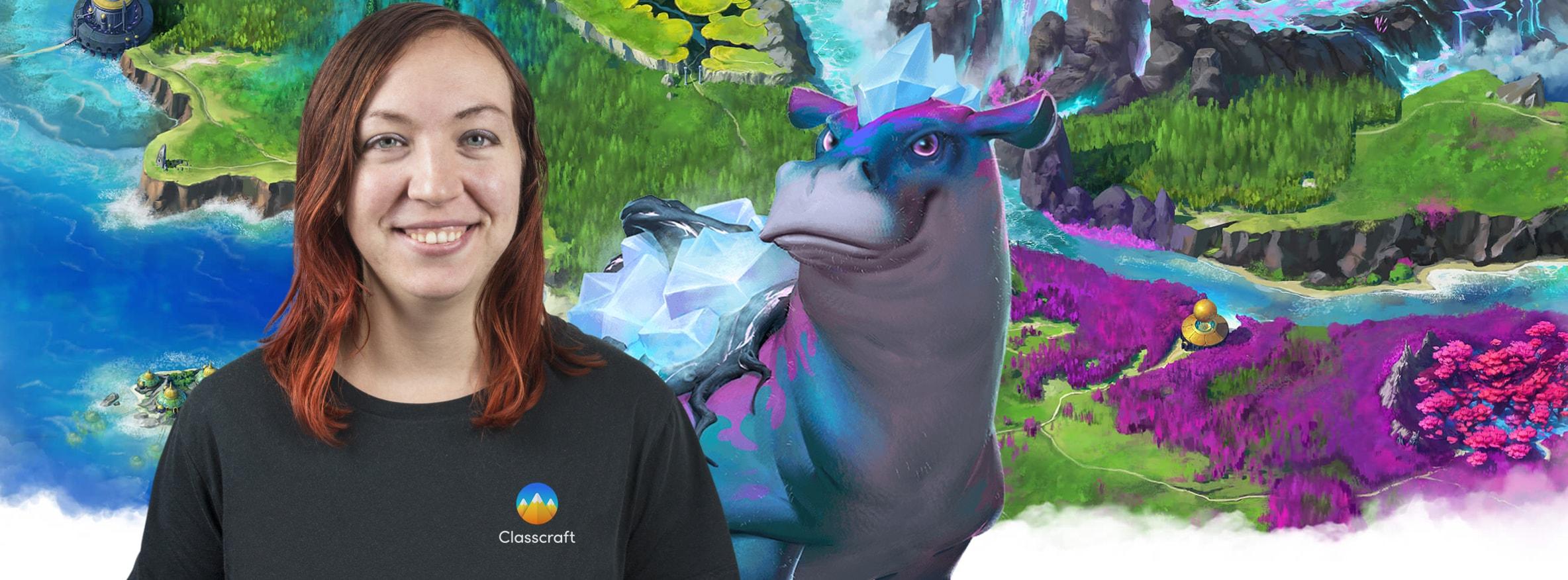 Stephanie Carmichael, Head of Storytelling team at Classcraft