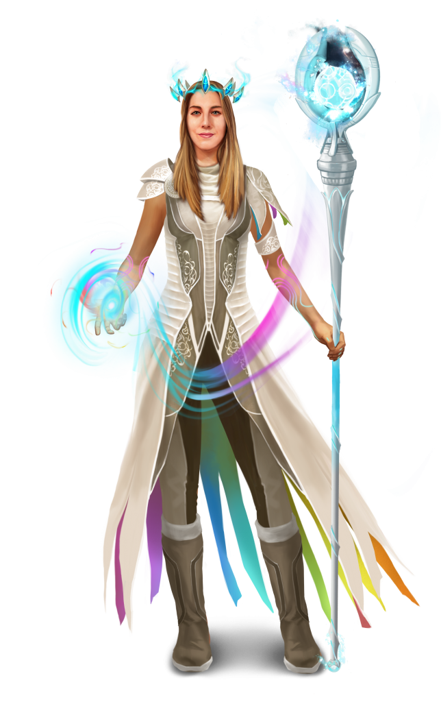 Teacher/Gamemaster Olivia Coady featured in a custom avatar