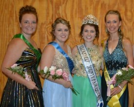 2016 Clearfield County Fair Queen Court
