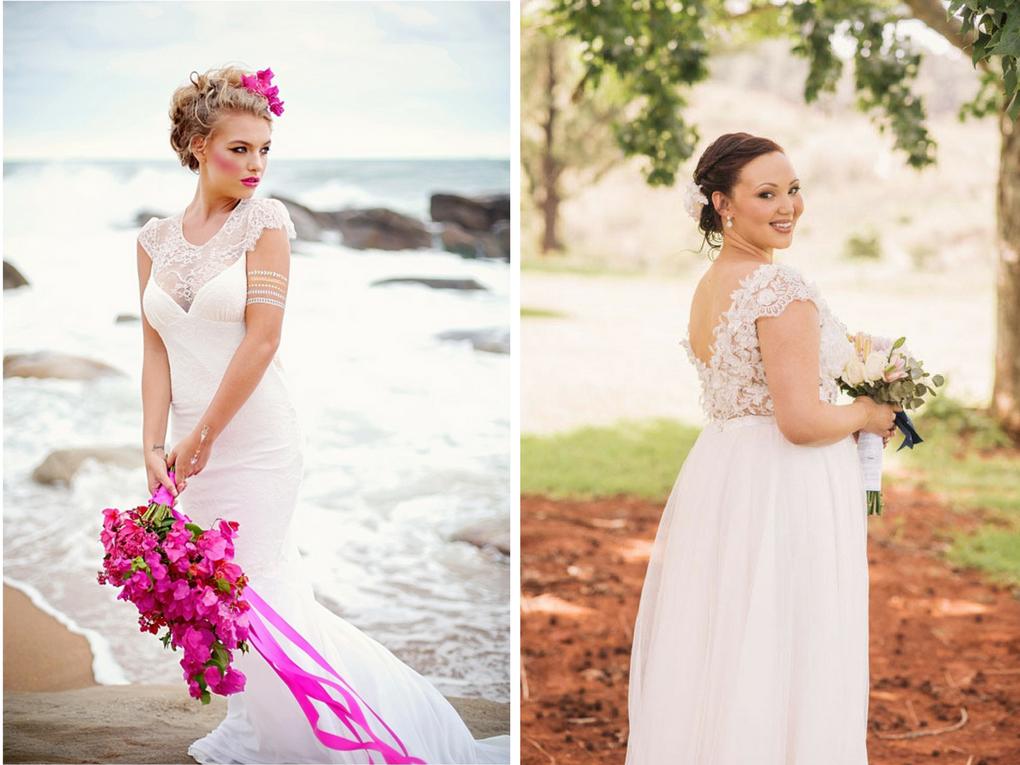 Pre-Loved Wedding Dresses from Hooray Weddings - Lyida and Julia