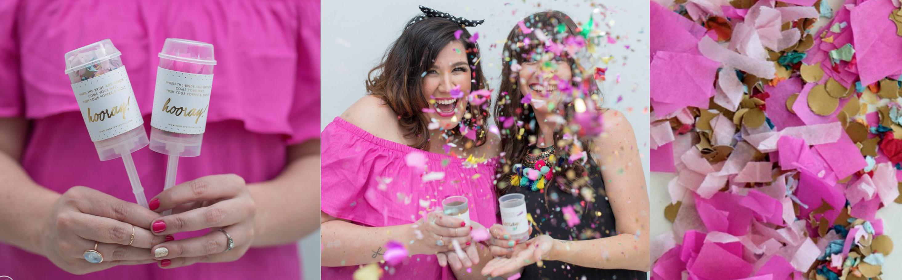 Hooray Weddings Confetti through the ages