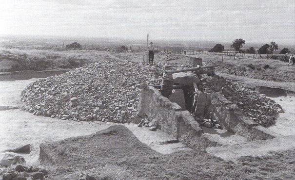 picture during excavation of the Mound of the Hostages