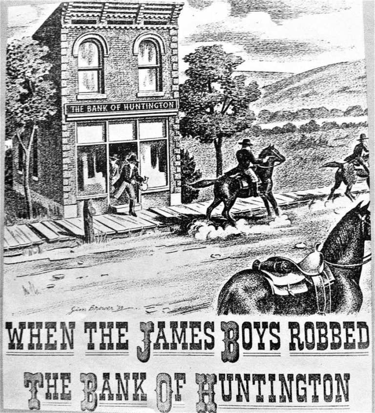 Illustration of the 1875 robbery
