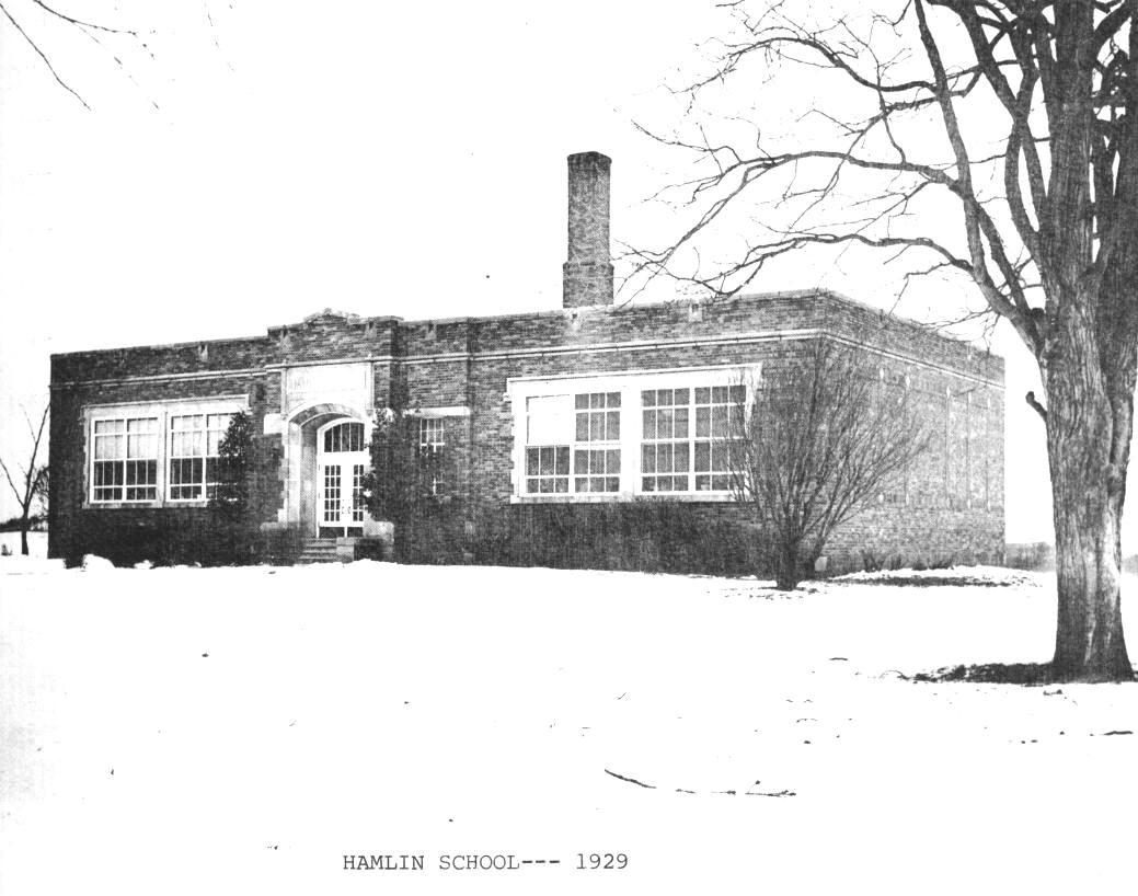 Hamlin School, south and east elevations, 1929