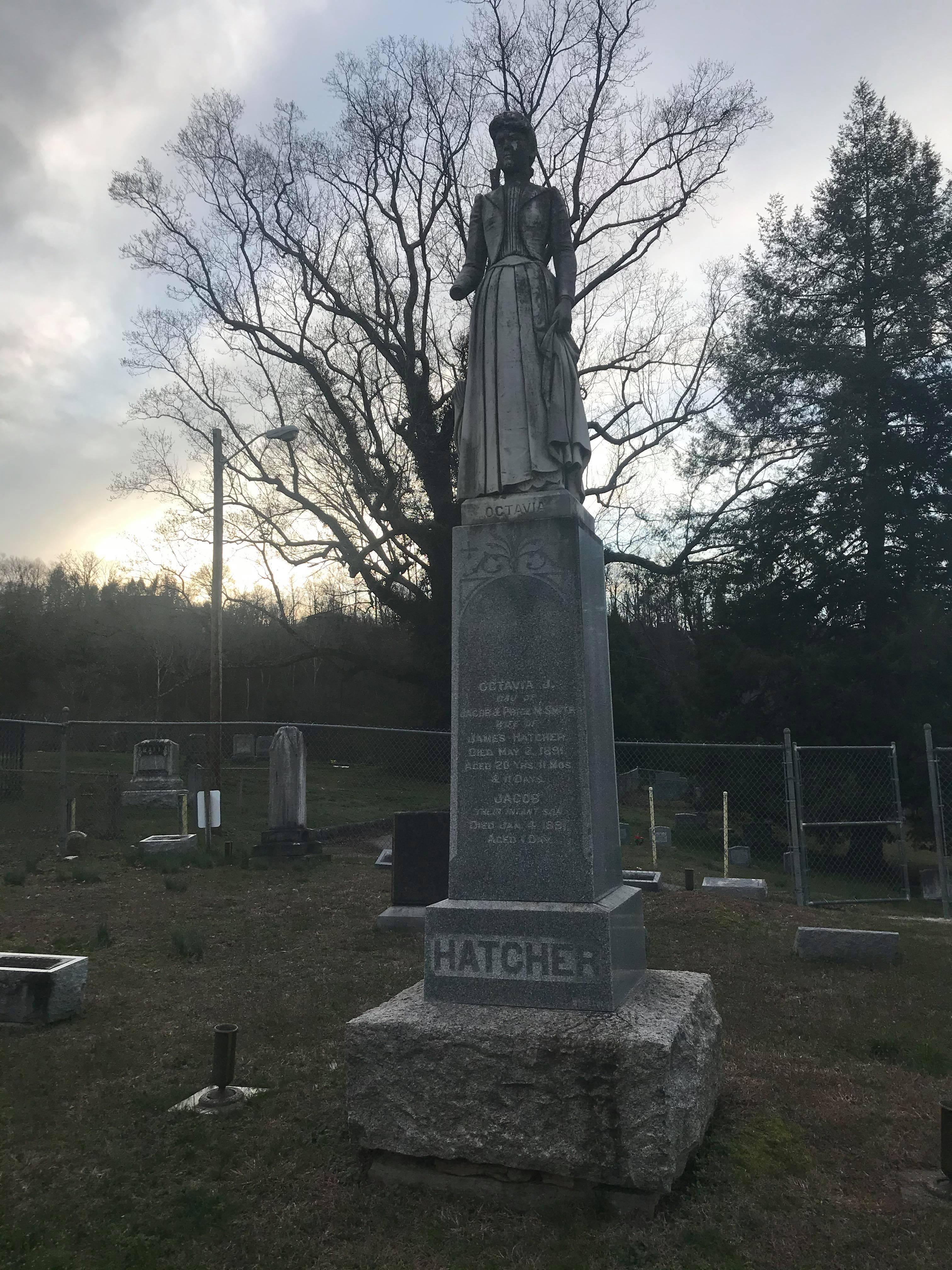 Octavia Hatcher's Headstone