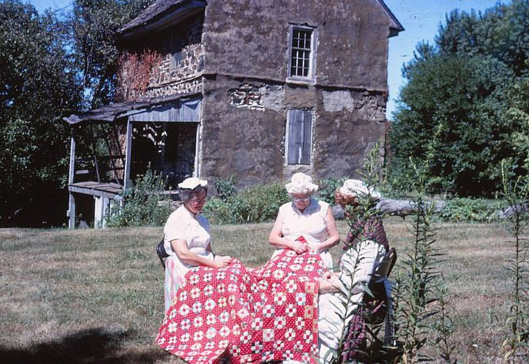 Ladies in the Historical Society in front of the Chads house in 1968