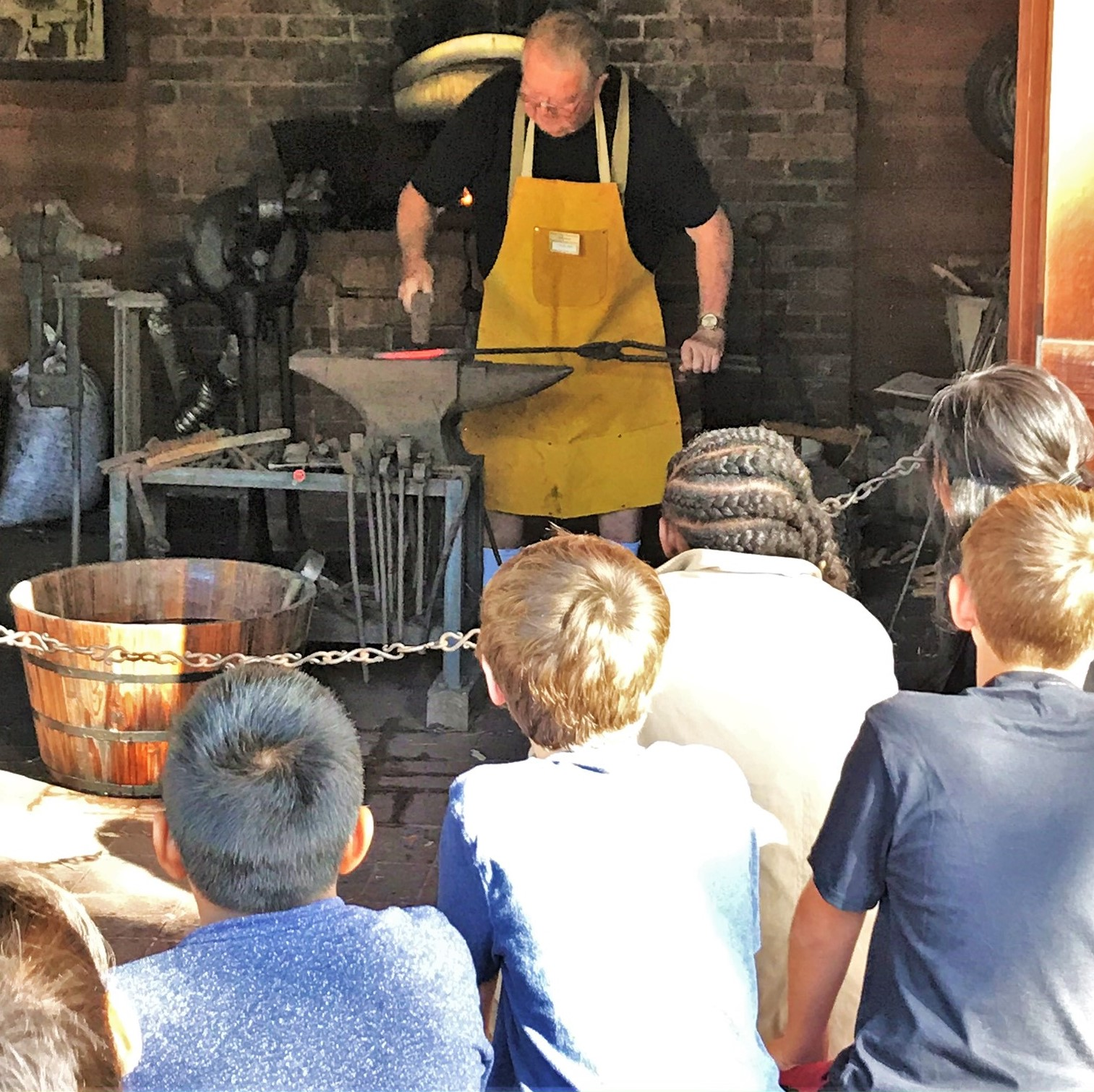 Blacksmith Demonstration for School Fieldtrip