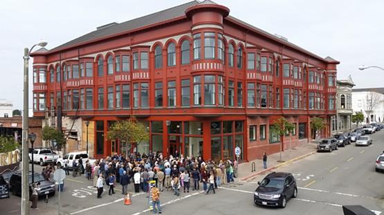 Carson Block Building (2016) at its grand reopening following restoration
