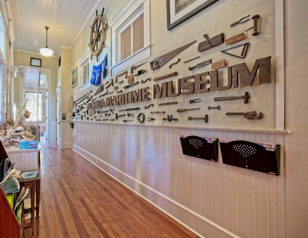 Entry to the Florida Maritime Museum featuring Southern Yellow Pine Floors